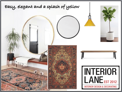 Decorate with yellow accents