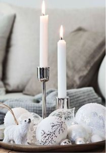 Silver decor for Christmas